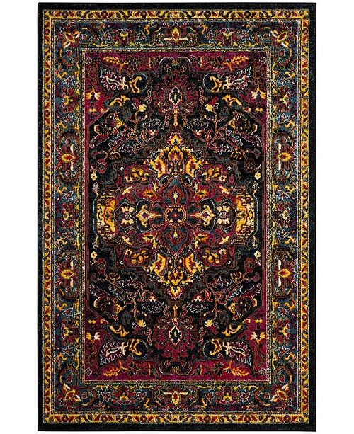 "Safavieh Cherokee Black and Blue 5'1"" x 7'6"" Area Rug"