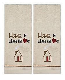 Home Heart 2 Piece Hand Towel Set