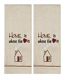Home Heart 2 Piece Hand Towel Set