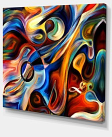 "Designart Abstract Music And Rhythm Abstract Canvas Art Print - 40"" X 30"""