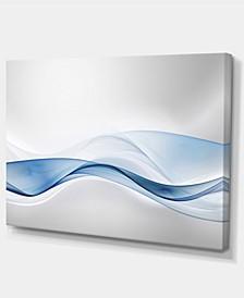 "Designart 3D Wave Of Water Splash Abstract Canvas Art Print - 32"" X 16"""