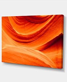 "Designart Antelope Canyon Orange Wall Photography Canvas Print - 32"" X 16"""