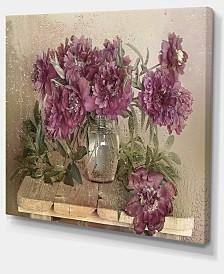 "Designart Bouquet Of Pink Peonies Floral Art Canvas Print - 40"" X 30"""
