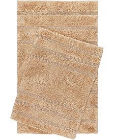 Home Dynamix Nicole Miller Newton Reversible Cut and Loop Stripe 2-Piece Cotton Bath Mat Set