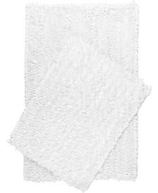 Home Dynamix Nicole Miller Radiance Shag Popcorn Chenille Microfiber 2-Piece Bath Mat Set