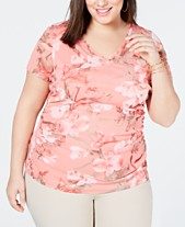 3eee6a24403 Plus Size Tops - Womens Plus Size Blouses   Shirts - Macy s