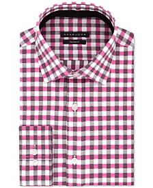 Sean John Men's Classic/Regular Fit Pink Check Dress Shirt