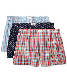 Tommy Hilfiger Men's 3-Pk. Cotton Classics Printed Woven Boxers