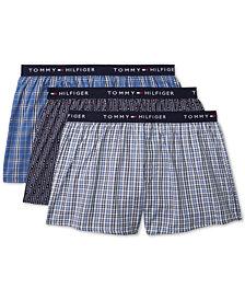 Tommy Hilfiger Men's 3-Pk. Cotton Classics Printed Woven Boxers