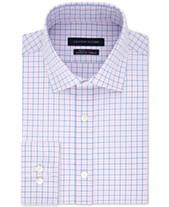 82da70f86d69b Tommy Hilfiger Men s TH Flex Fitted Non-Iron Stretch Check Dress Shirt