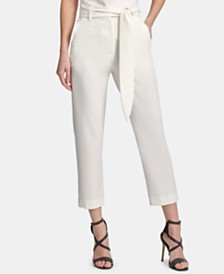 DKNY Tie-Front High-Waist Pants