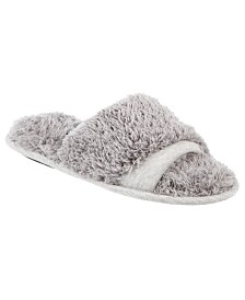 Isotoner Signature Linely Jersey & Chenille Slide Slippers