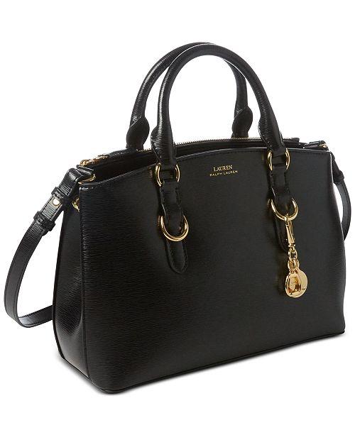 3b30c71ee ... Lauren Ralph Lauren Bennington Mini Zip Saffiano Leather Satchel ...
