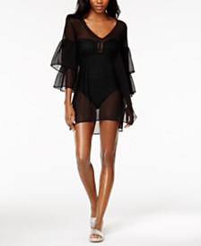 MICHAEL Michael Kors Sheer Ruffled Cover-Up Dress