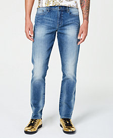 I.N.C. Men's Athletic-Fit Faded Jeans, Created for Macy's