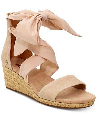 Nude Ugg wedge sandals