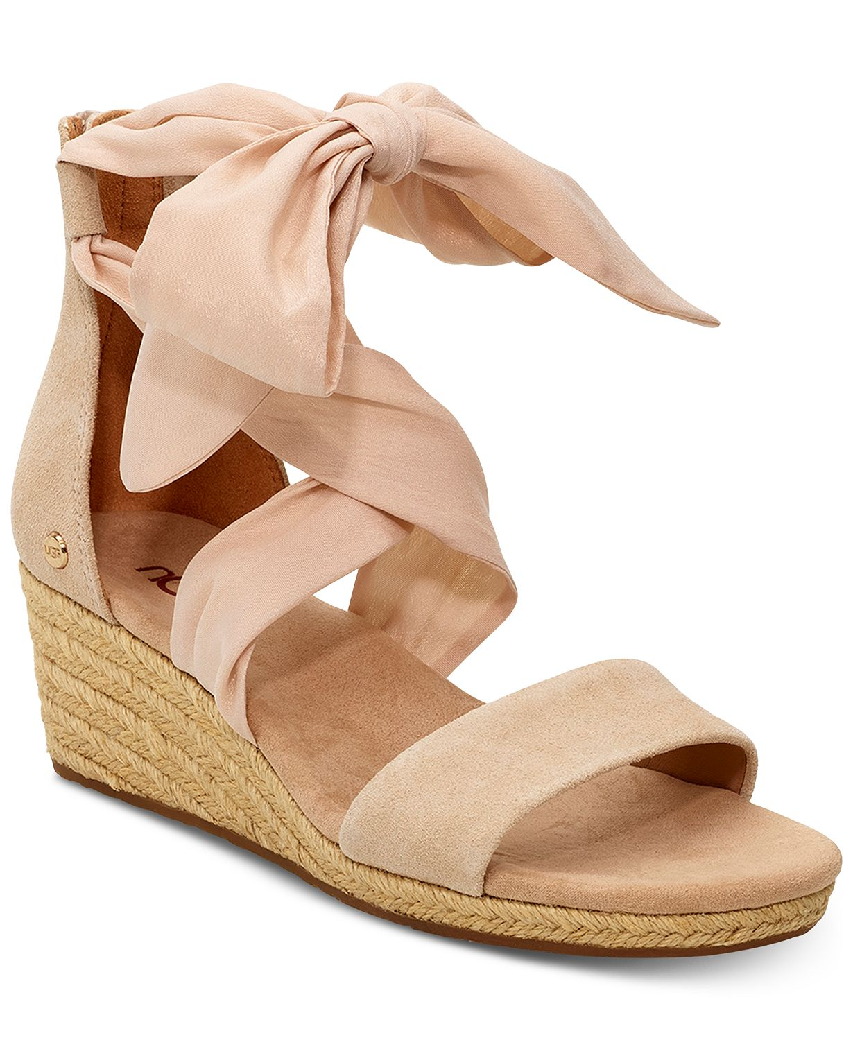 Nude Ugg wedge sandals