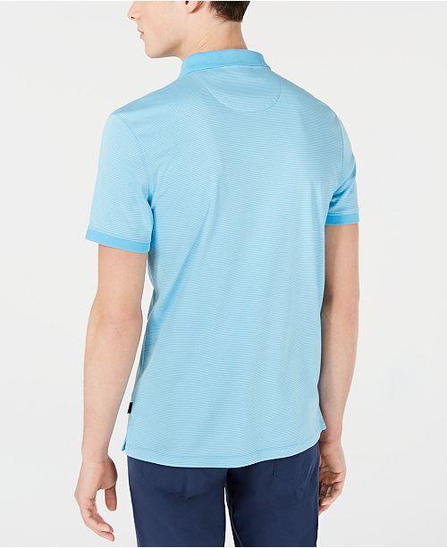 0c2ecbc8 Calvin Klein Men's Liquid Touch Micro Stripe Polo Shirt & Reviews ...
