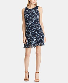 American Living Floral-Print Georgette Dress