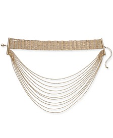 "Gold-Tone Choker Layer Necklace, 12"" + 3"" extender, Created for Macy's"