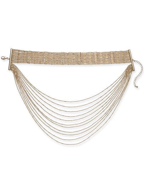 """Thalia Sodi Gold-Tone Choker Layer Necklace, 12"""" + 3"""" extender, Created for Macy's"""