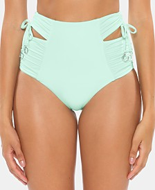 Soluna Under The Sun Cutout High-Waist Bikini Bottoms