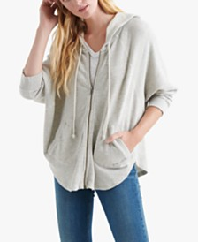 Lucky Brand Cotton Zippered Hoodie