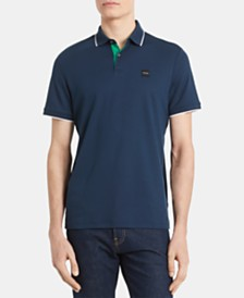 Calvin Klein Men's Liquid Touch Regular-Fit Tipped Polo Shirt