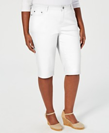 Charter Club Plus Size Shorts, Created for Macy's