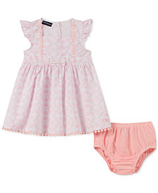 Calvin Klein Baby Girls 2-Pc. Dress & Diaper Cover Set