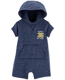 Baby Boys All Star Hooded Cotton Romper
