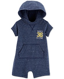 Carter's Baby Boys All Star Hooded Cotton Romper