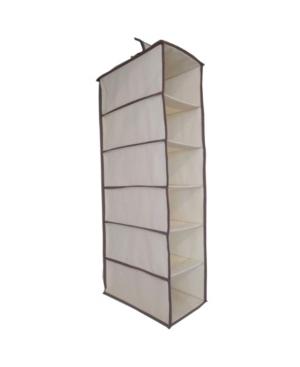 6 Compartment Soft Storage Hanging Organizer