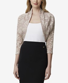 Tahari ASL Lace Shrug, Created for Macy's