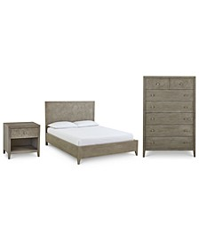 Parquet Bedroom 3-Pc. Set (Queen, Nightstand & Chest), Created for Macy's