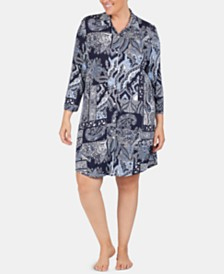 Lauren Ralph Lauren Plus-Size Printed Knit Nightgown