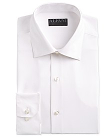 Men's Fitted Performance Stretch Solid Dress Shirt, Created for Macy's