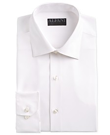 AlfaTech by Alfani Men's Fitted Performance Stretch Solid Dress Shirt, Created for Macy's