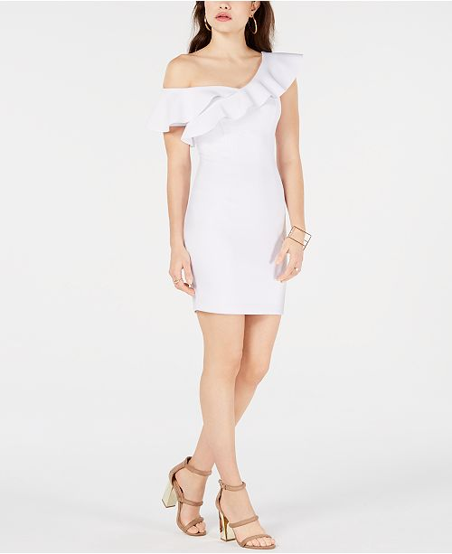 GUESS Farrah Ruffled Bodycon Dress