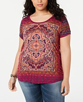 a34e0f2f8d Plus Size Graphic Tees  Shop Plus Size Graphic Tees - Macy s