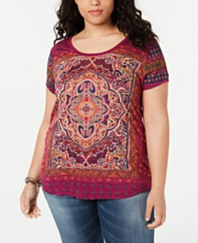 Lucky Brand Plus Size Persian Graphic T-Shirt