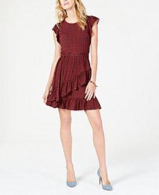 MICHAEL Michael Kors Printed Ruffled Dress