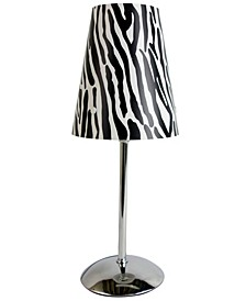 Limelight's Mini Silver Table Lamp with Plastic Printed Shade