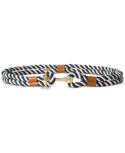 Lauren Ralph Lauren Nautical Rope Plus-Size Belt
