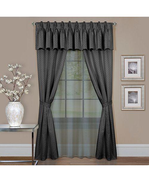 Achim Claire 6 Pc Window Curtain Set, 55x84