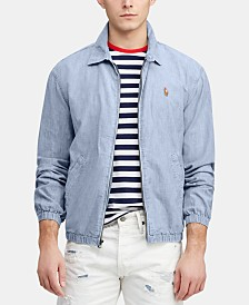 Polo Ralph Lauren Men's Bayport Chambray Windbreaker, Created for Macy's