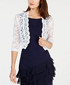 Scalloped Lace Shrug