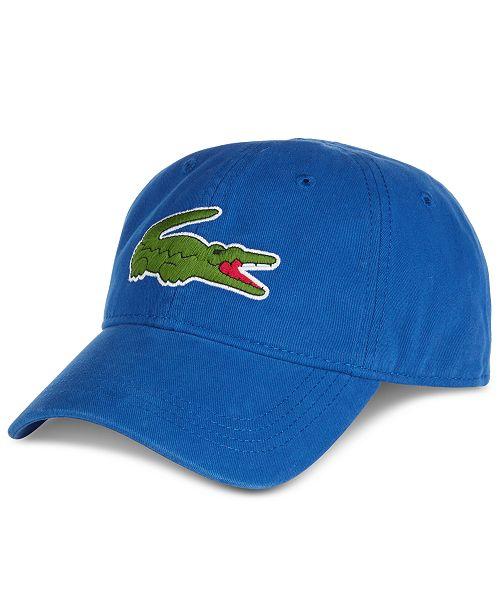 1e733fe4 Lacoste Men's Large Croc Gabardine Cap & Reviews - Hats, Gloves ...