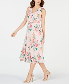 Jessica Howard Petite Floral Chiffon Midi Dress