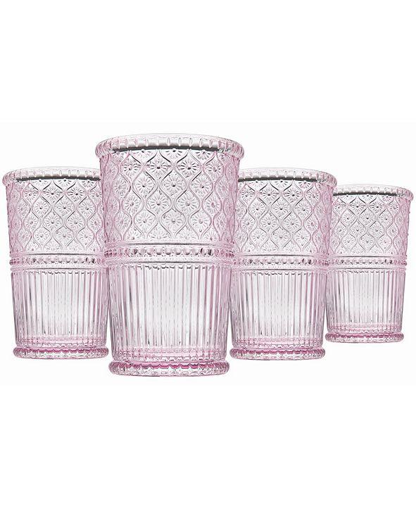 Godinger Claro Modern Vintage Highball Glasses, Set of Four